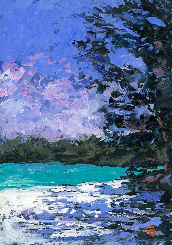 """Emerald Lagoon"" original fine art by Chris Ousley"