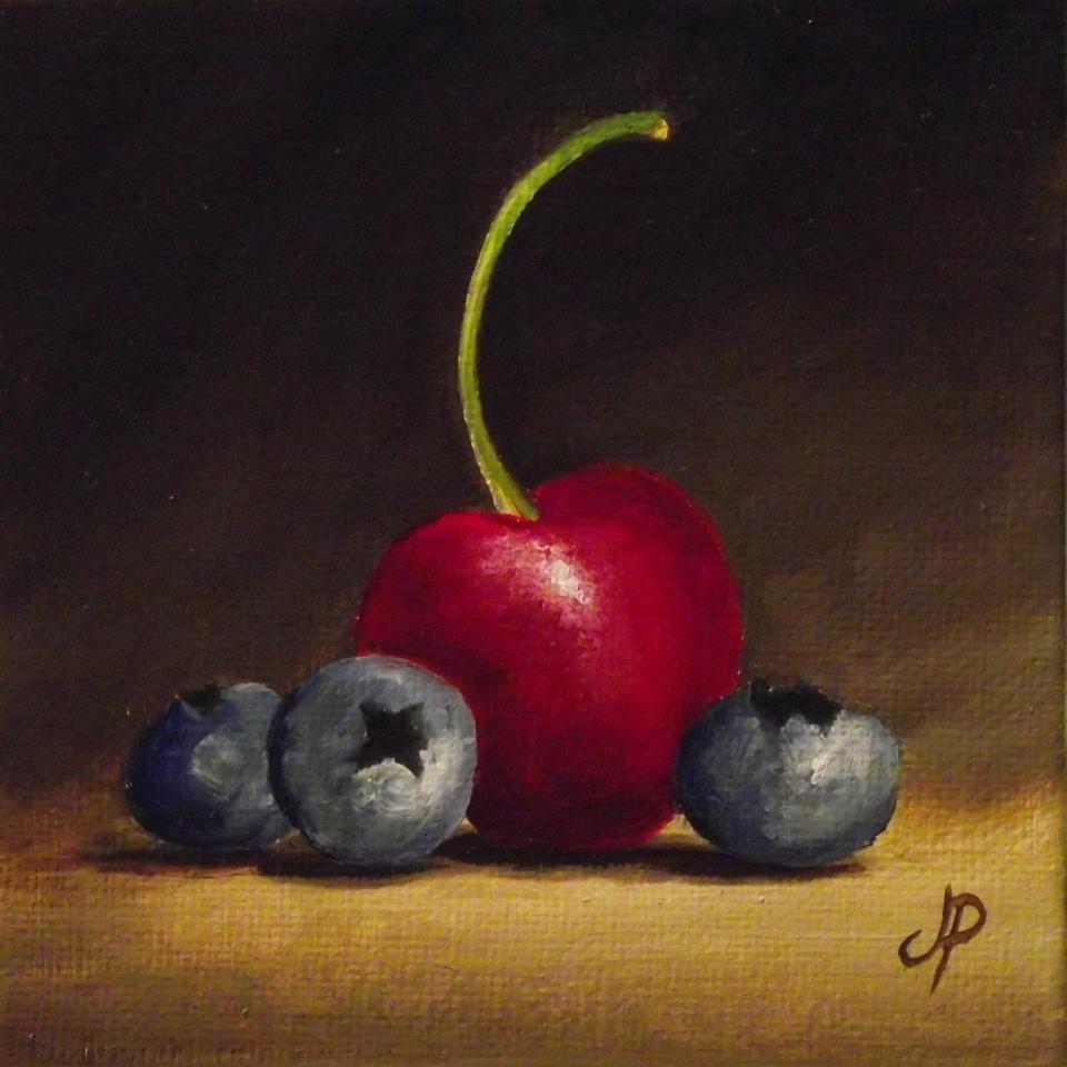 """Small fruits"" original fine art by Jane Palmer"