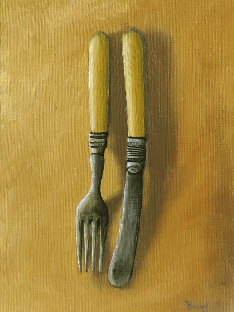 """Antique Cutlery"" original fine art by Sherry Bellamy"