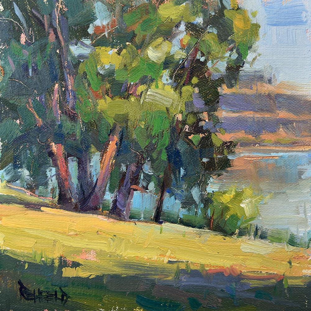 """Horsethief Lake Park"" original fine art by Cathleen Rehfeld"