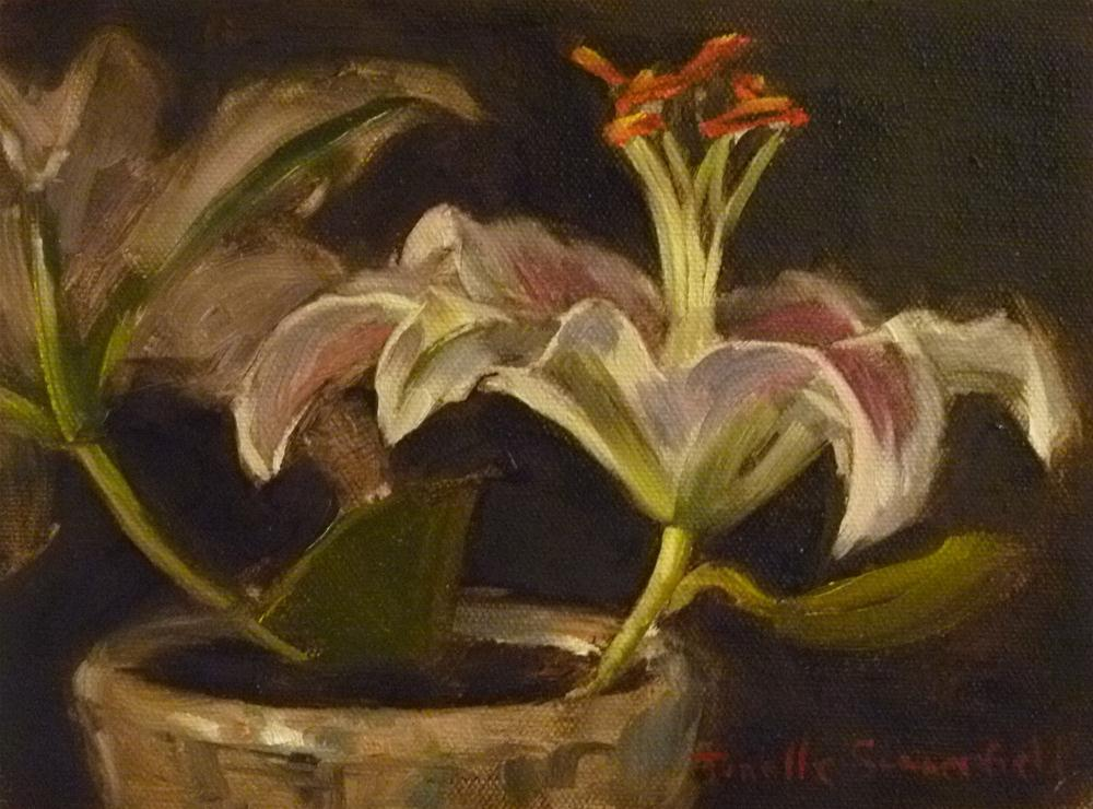 """Lillies"" original fine art by Jonelle Summerfield"