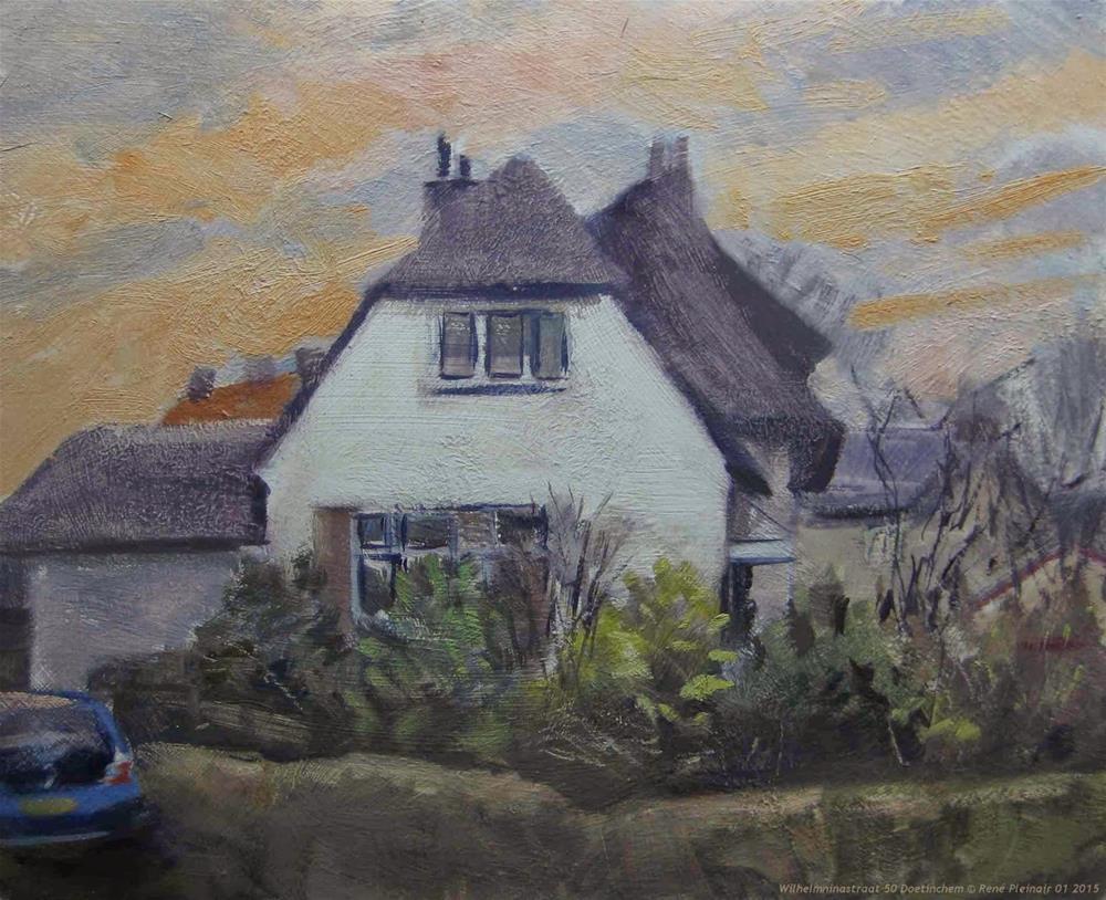 """Wilhelminastraat 50 Doetinchem The Netherlands"" original fine art by René PleinAir"