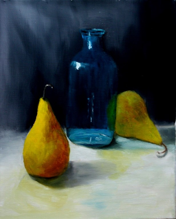 """""""A Pair of Pears"""" original fine art by Mary Datum"""