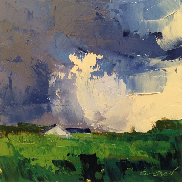 """Distant Rain"" original fine art by Mary Gilkerson"