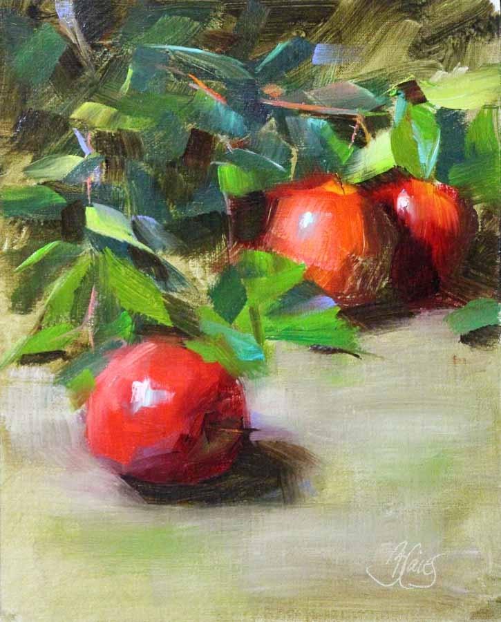 """Orchard Apples 2"" original fine art by Pamela Blaies"