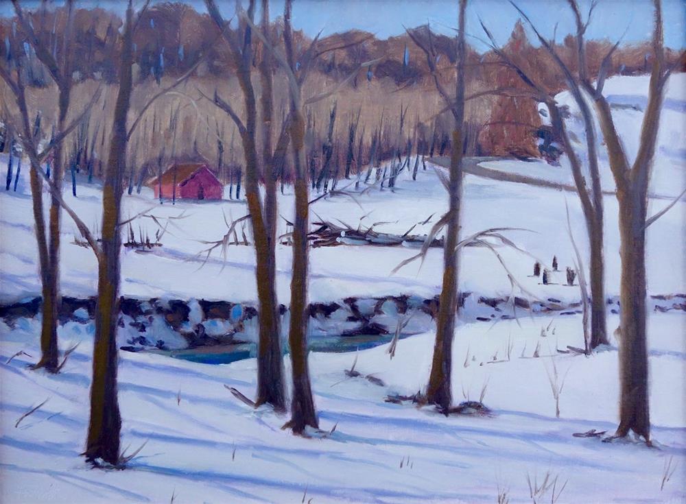 """""""Through the Trees en Plein air"""" original fine art by Daniel Fishback"""