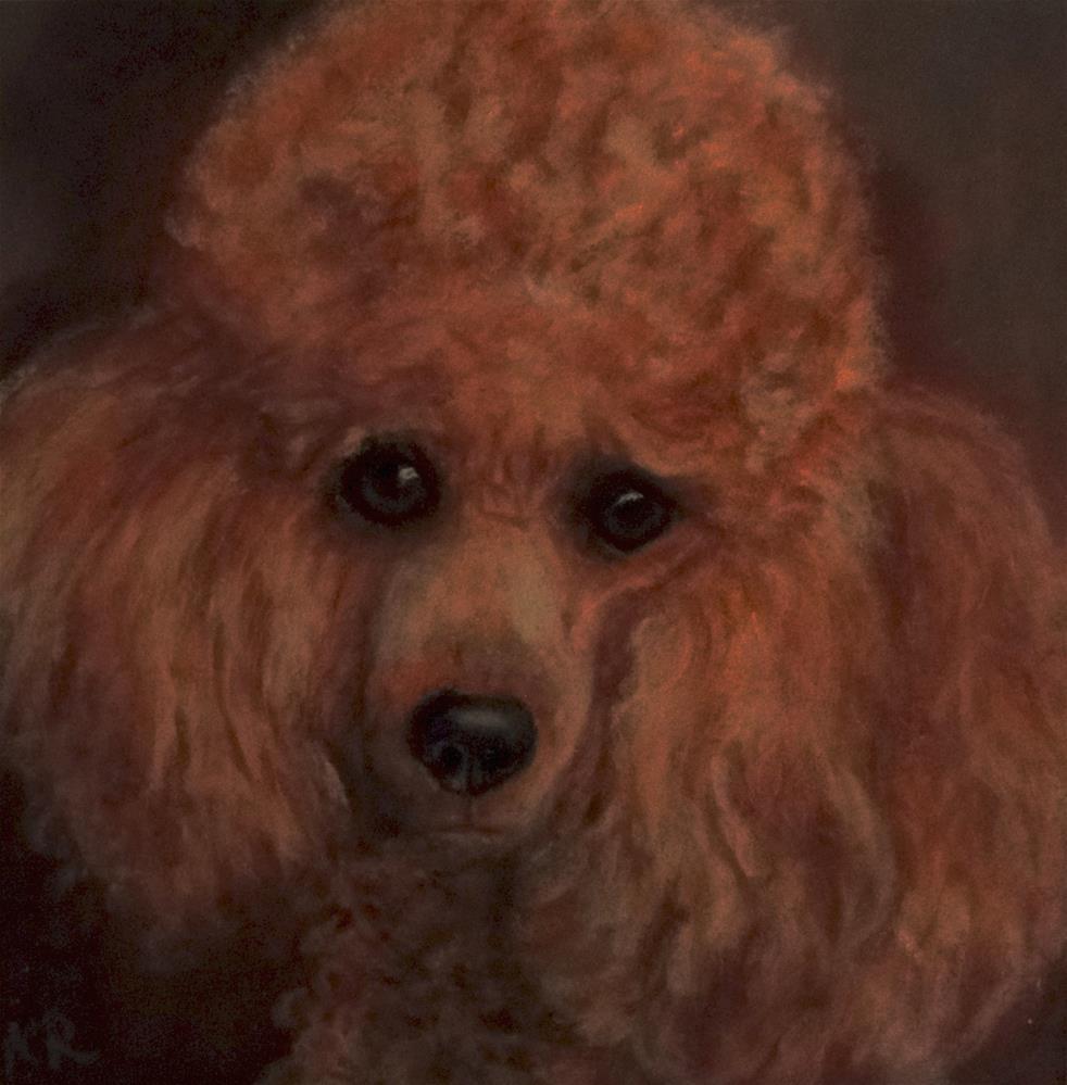 """Poodle"" original fine art by Karen Robinson"