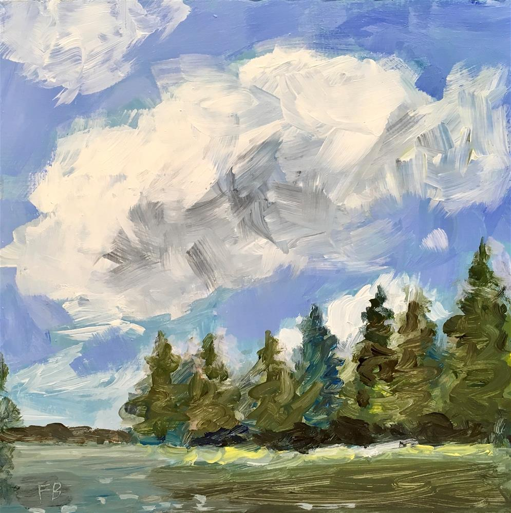 """108 Lake Landscape Painting"" original fine art by Fred Bell"