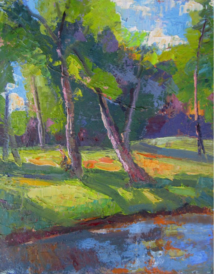 """Creek Tree"" original fine art by Michael McConnell"