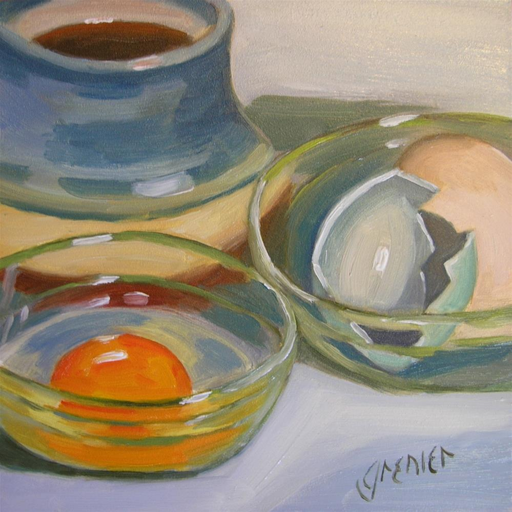 """Egg with Coffee"" original fine art by jean grenier"