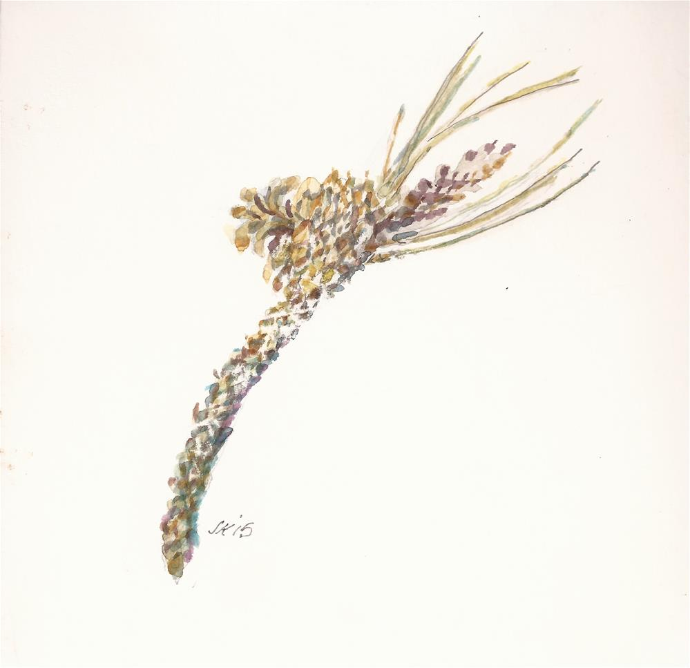 """Ponderosa Twig"" original fine art by Jean Krueger"