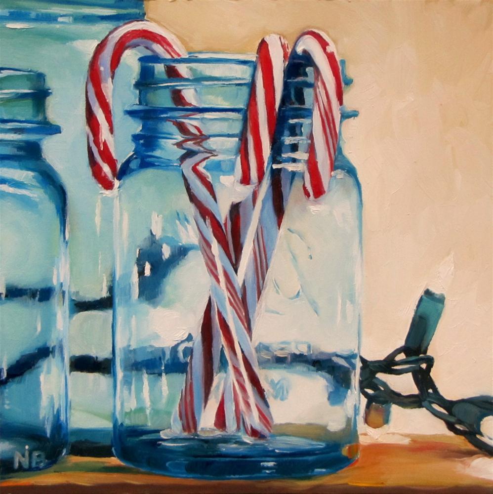 """""""Twinkle Twinkle Little Jar"""" original fine art by Nora Bergman"""