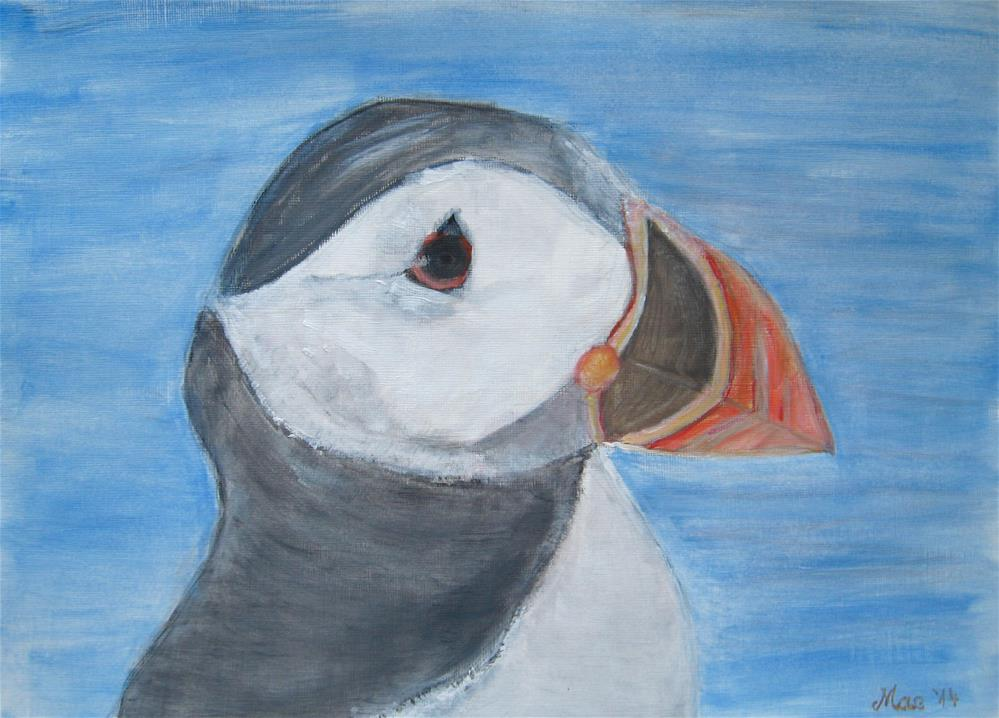 """Puffin"" original fine art by Alina Frent"