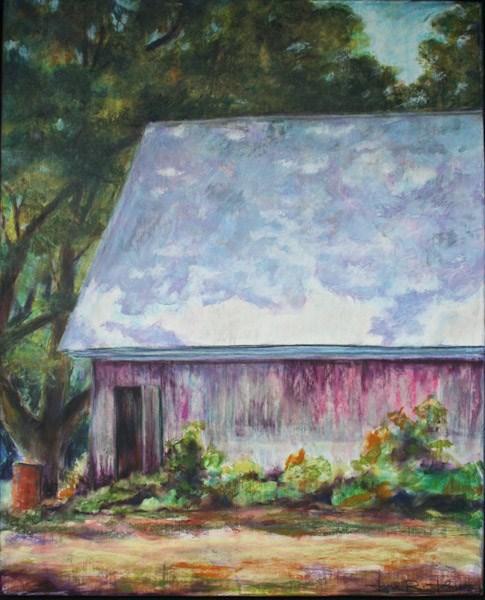 """Peoria Farm Barn"" original fine art by Jana Johnson"