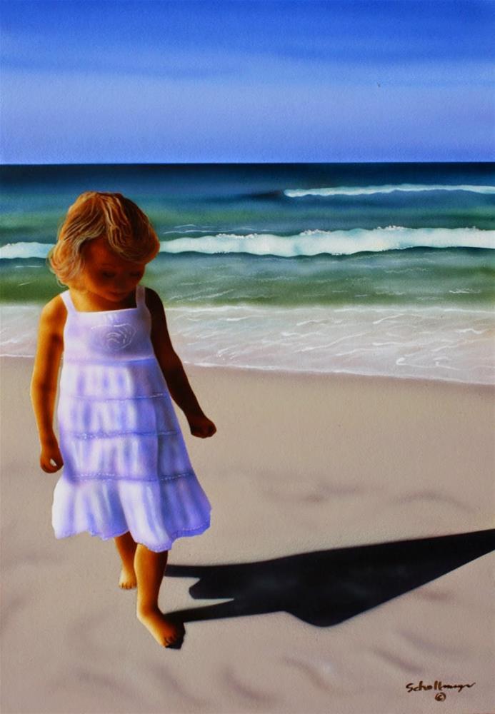 """""""Sand & Surf"""" original fine art by Fred Schollmeyer"""