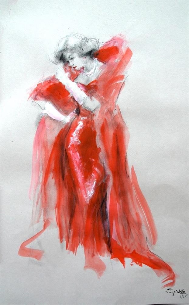 """In The Red"" original fine art by Johanna Spinks"