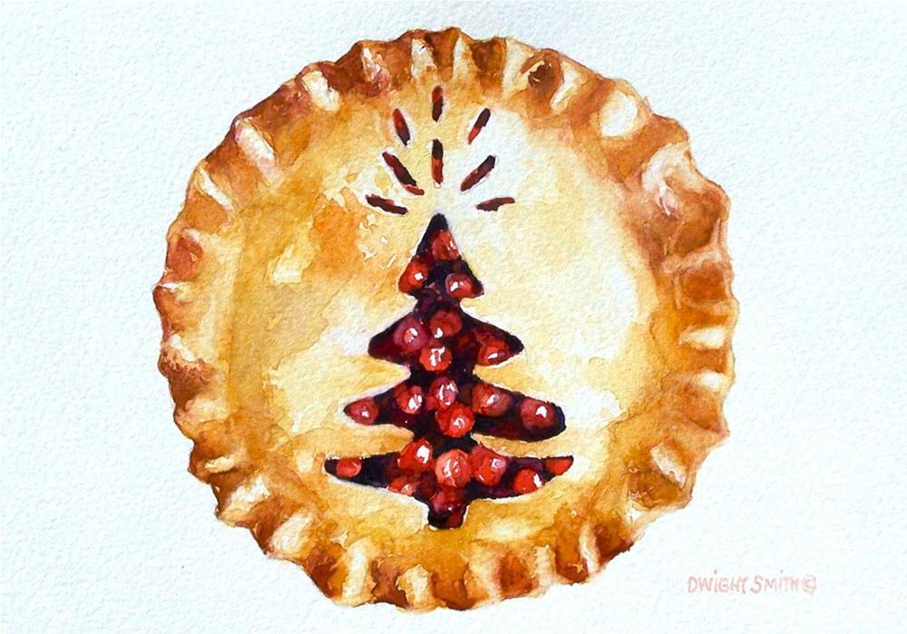 """ A CHRISTMAS CHERRY PIE"" original fine art by Dwight Smith"