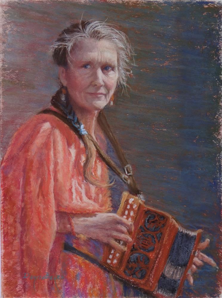 """""""Gypsy in Italy"""" original fine art by Denise Beard"""