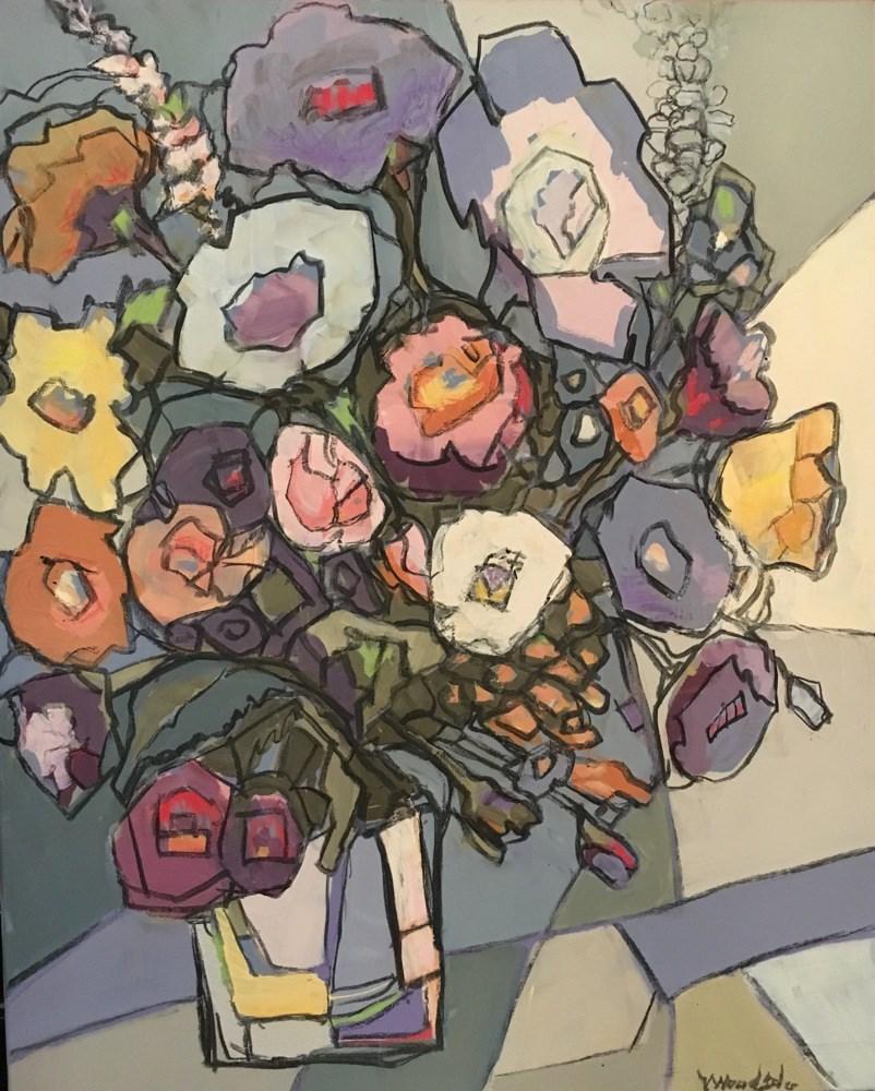 """blooms 7"" original fine art by Vicki Wood"