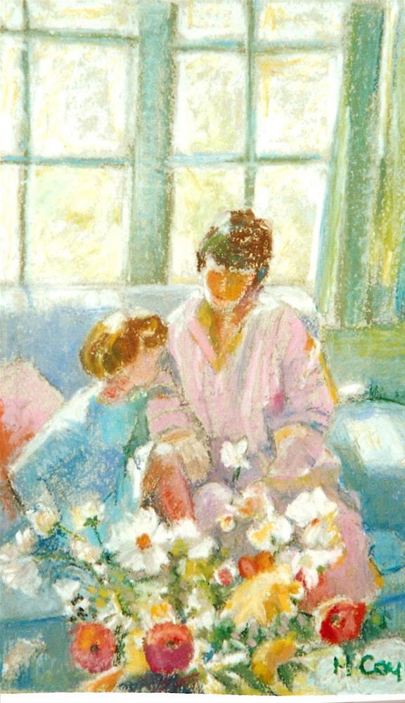 """nancy and Jess"" original fine art by meribeth coyne"