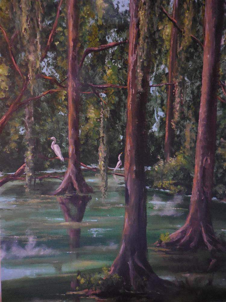 """Deep in the Bayou"" original fine art by Terri Nicholson"