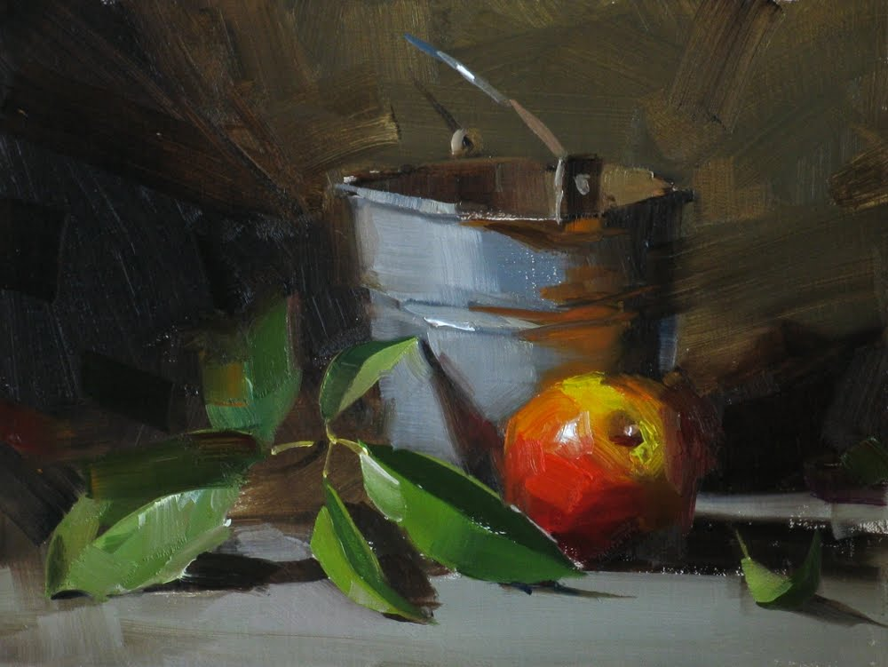 """Freshly picked"" original fine art by Qiang Huang"