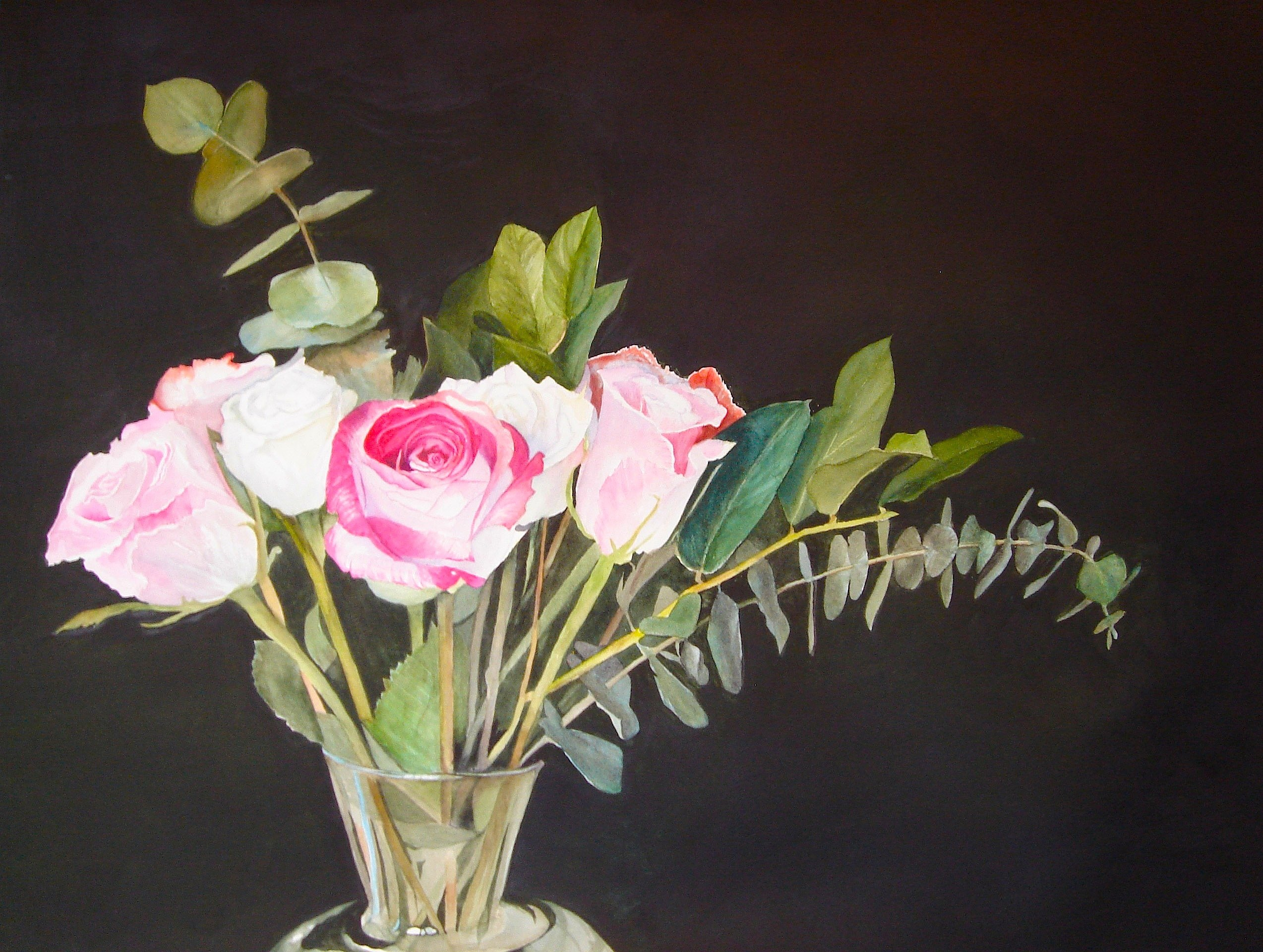 """Jim's Roses"" original fine art by Patti Adams"