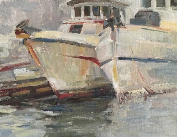"""Catch as Catch-Can in Ketchikan"" original fine art by Patti McNutt"