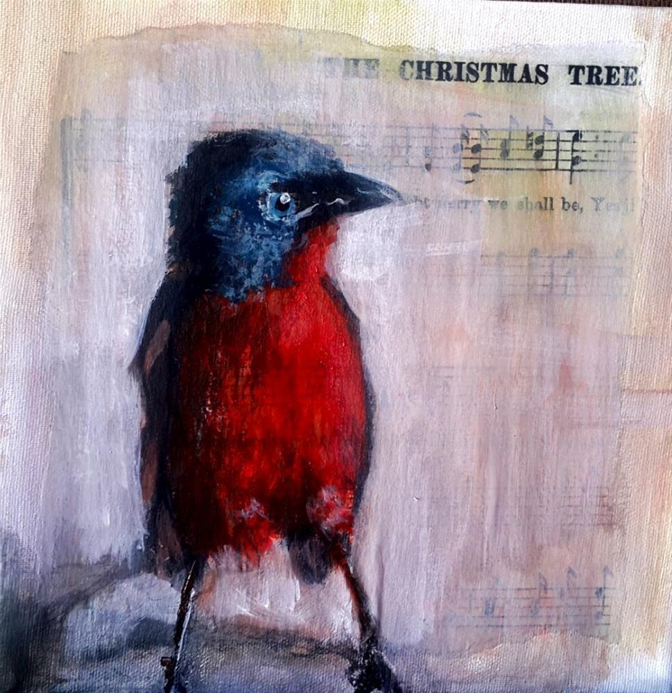 """""""Birdsong 7"""" original fine art by Rentia Coetzee"""