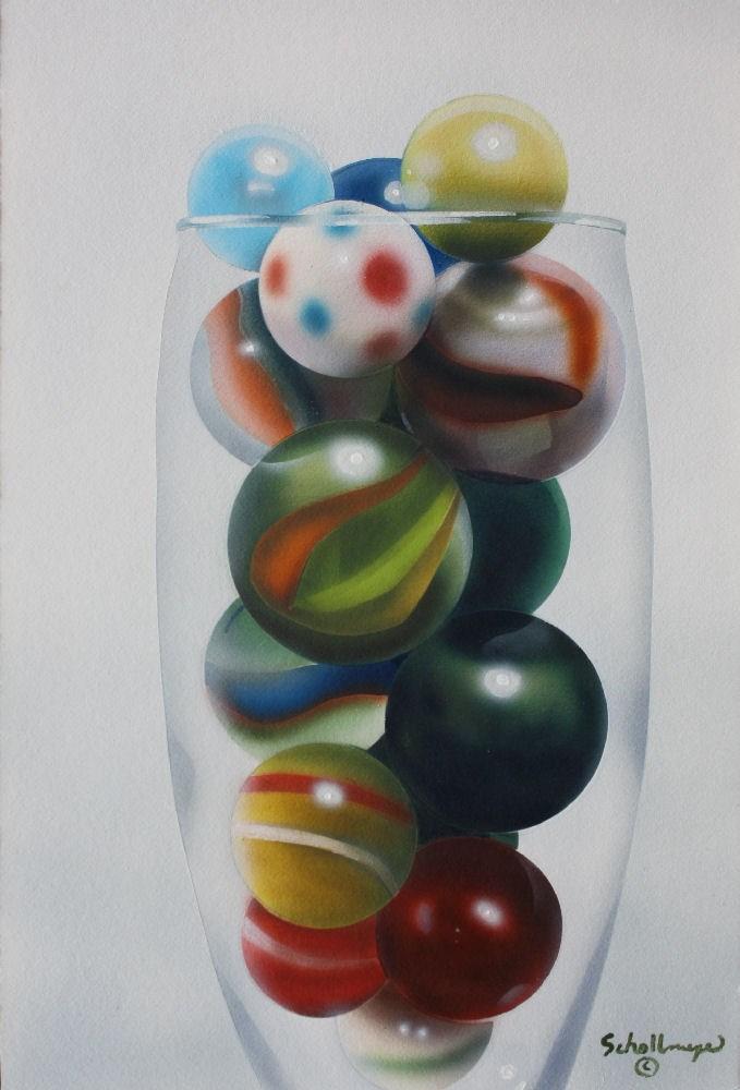 """""""Marbles # 14"""" original fine art by Fred Schollmeyer"""