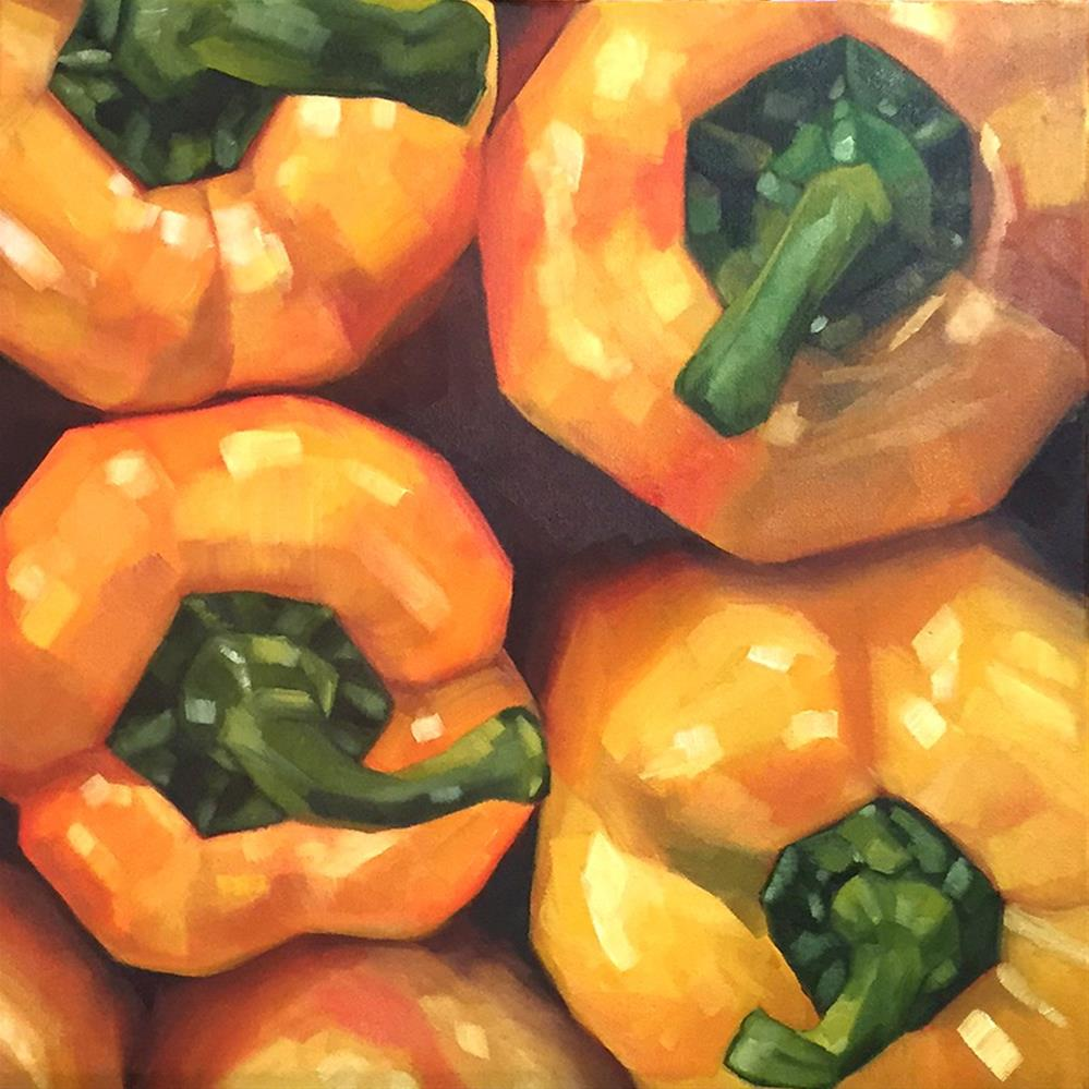"""Yellow Peppers - The Sequel!"" original fine art by Elizabeth Dawn Johnston"