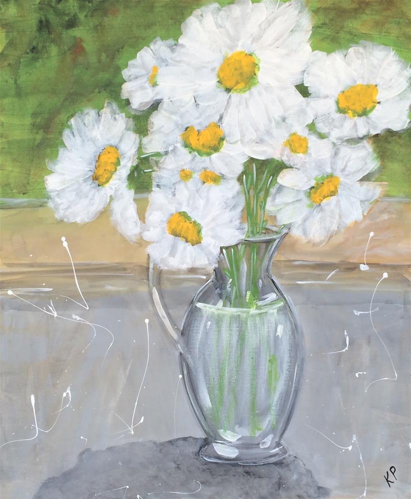 """Daisies 2"" original fine art by Kali Parsons"
