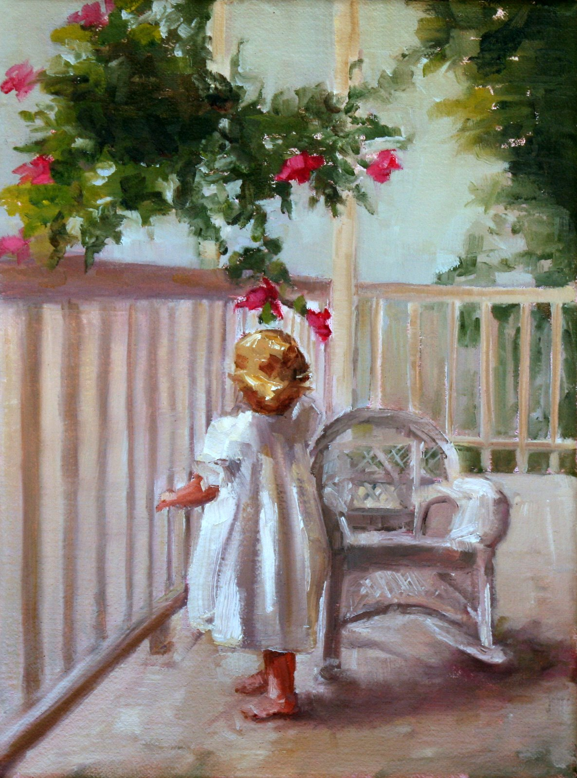 """Nancy"" original fine art by Carol Carmichael"
