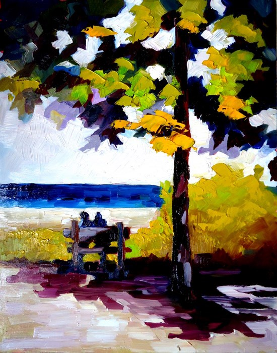 """Time Out in Northport"" original fine art by Laurie Mueller"