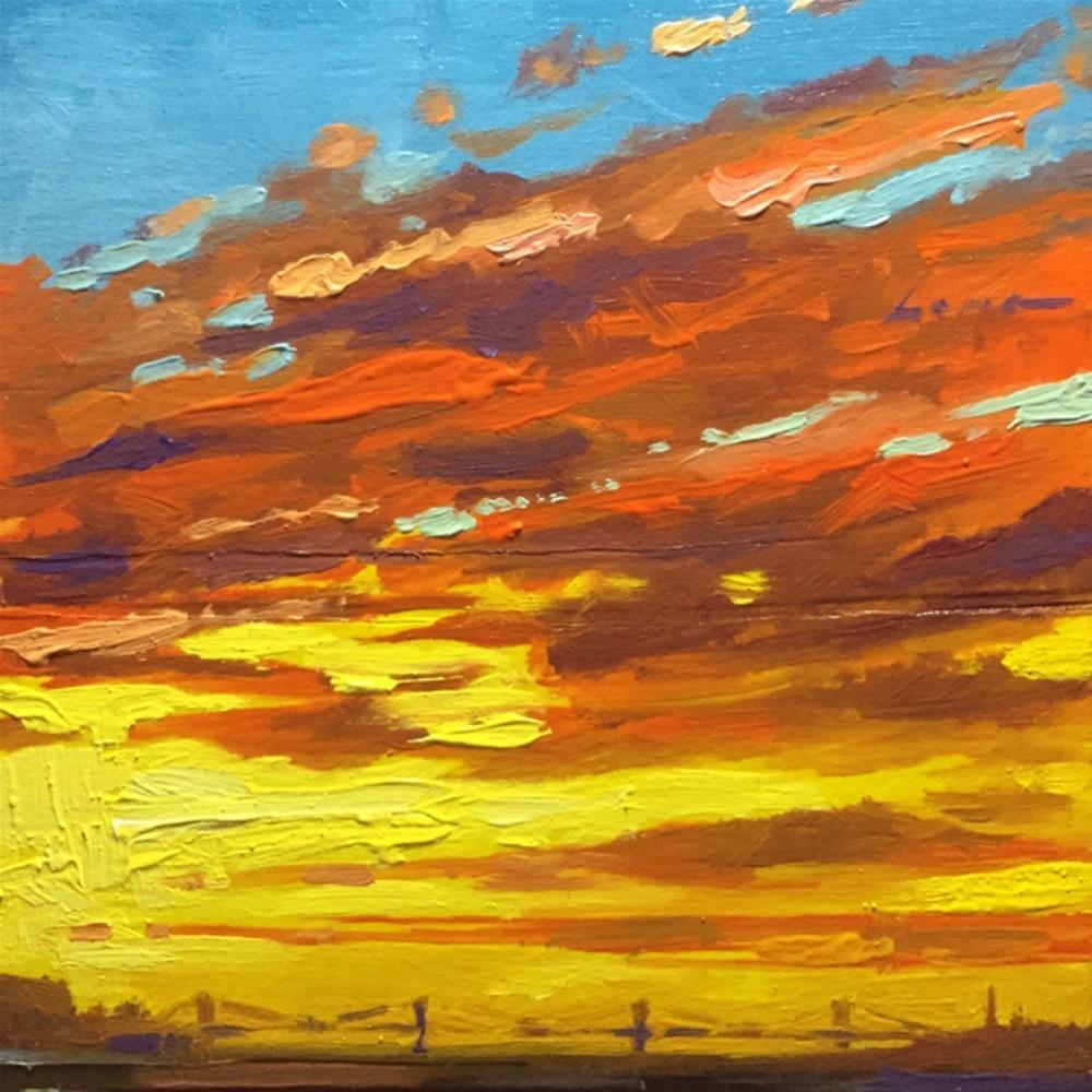 """Burn/Bridge"" original fine art by Chris Long"