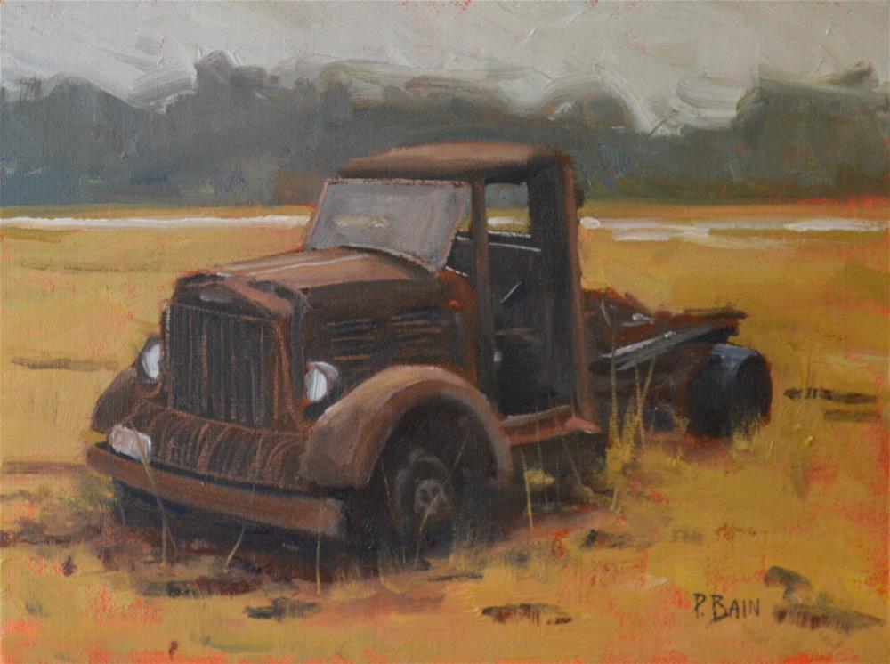 """Field Commander"" original fine art by Peter Bain"