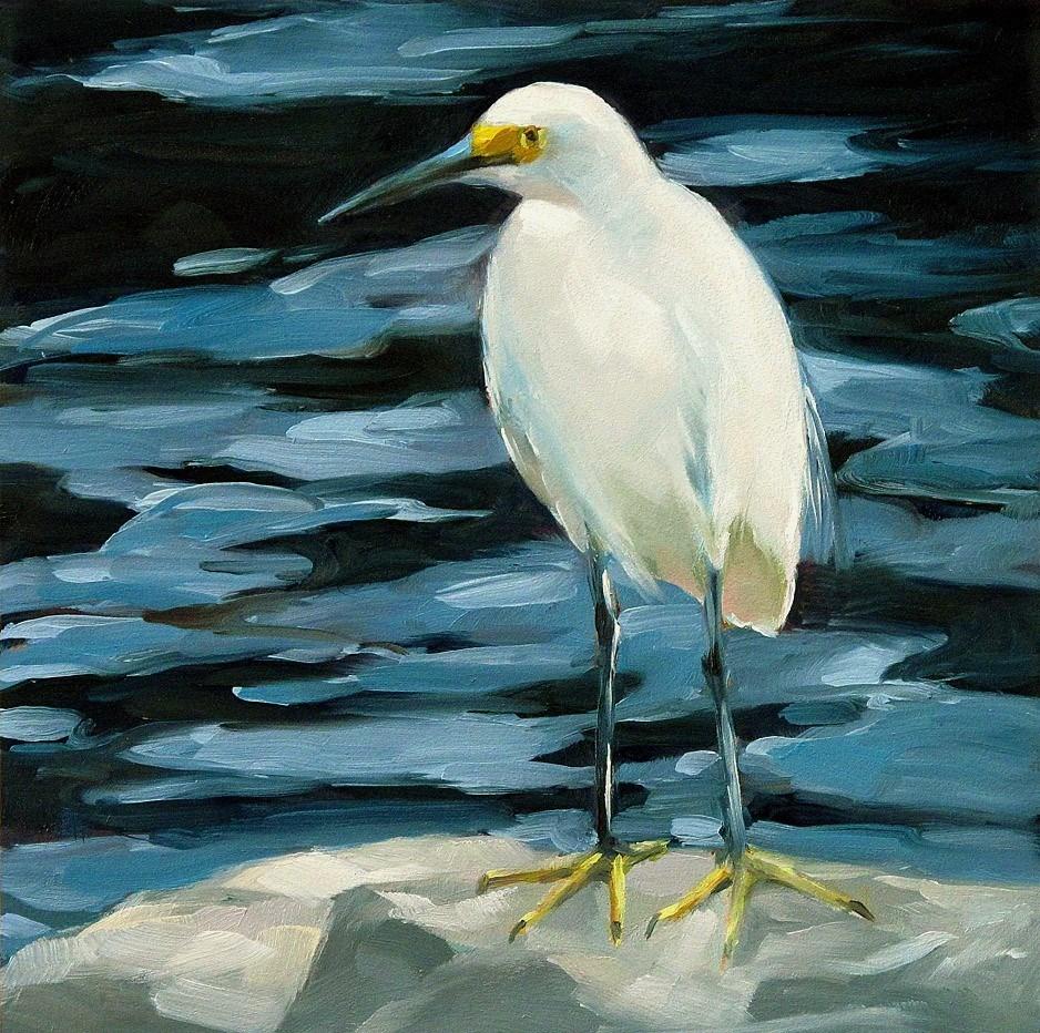 """Egret-2"" original fine art by Joanna Bingham"