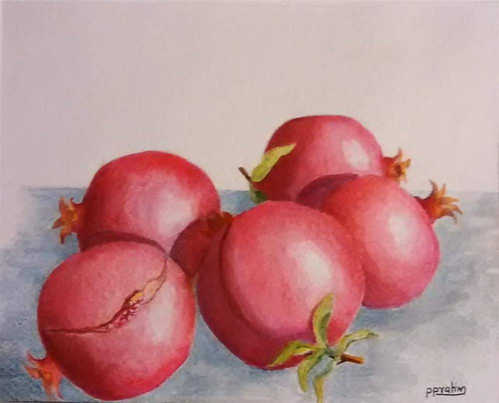 """pommegranates 2"" original fine art by Pratima Patel"