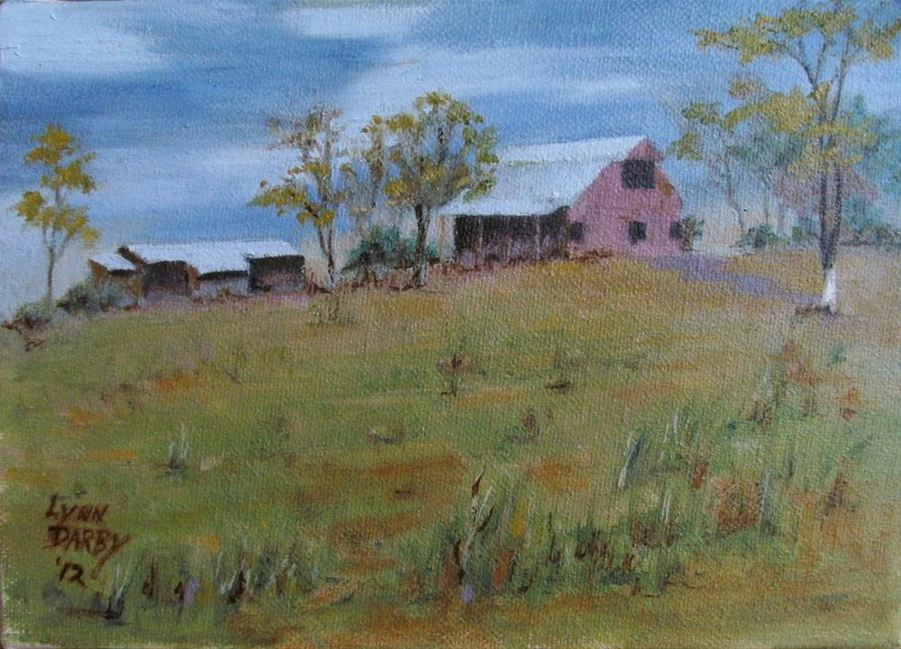"""Hilltop"" original fine art by Lynn Darby"