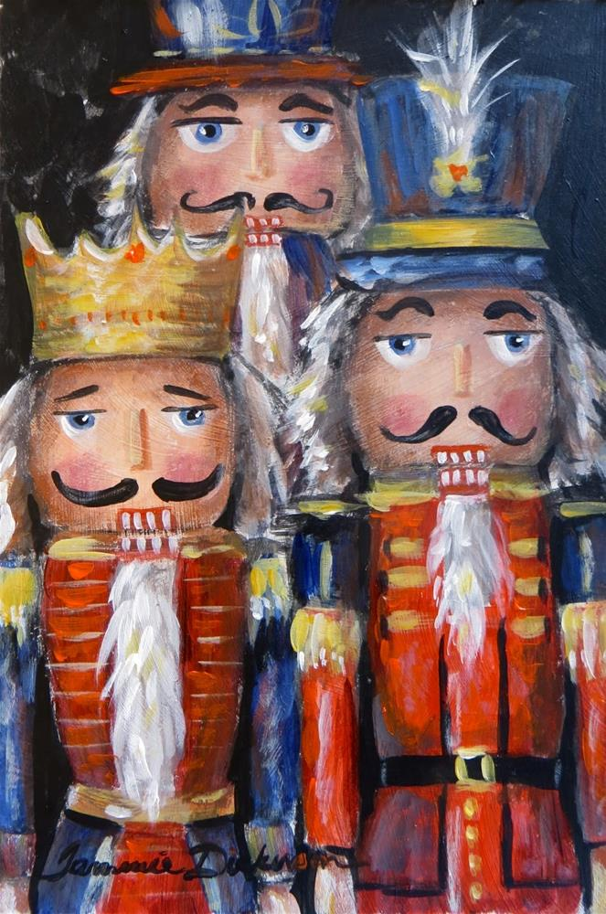 """Nutcrackers Three"" original fine art by Tammie Dickerson"