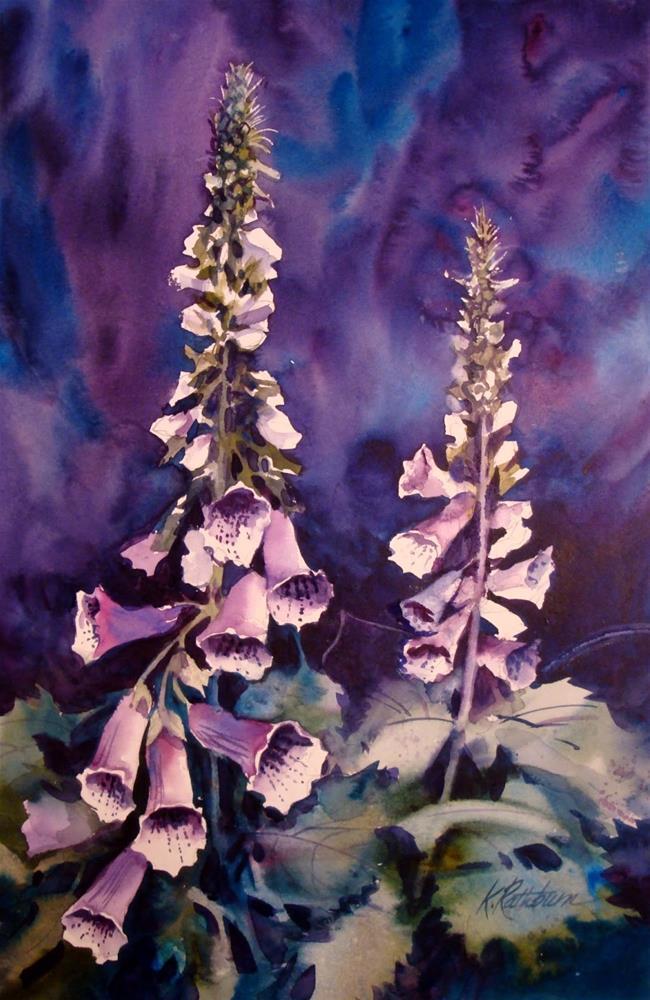 """Foxglove"" original fine art by Kathy Los-Rathburn"