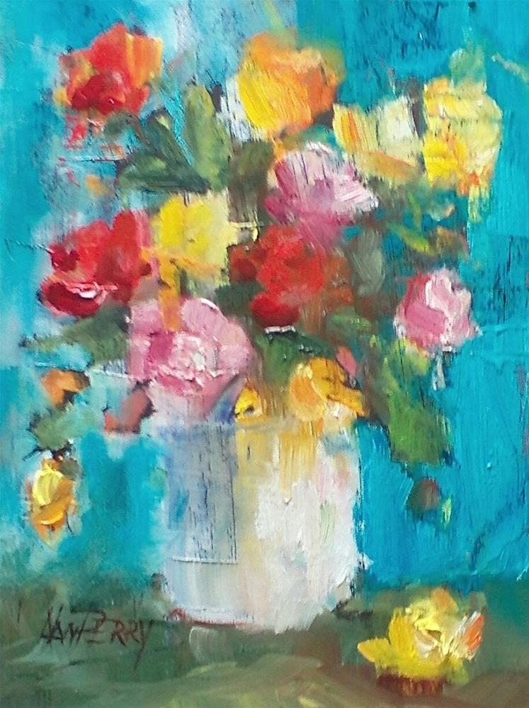 """Dream of Roses"" original fine art by Nan Perry"