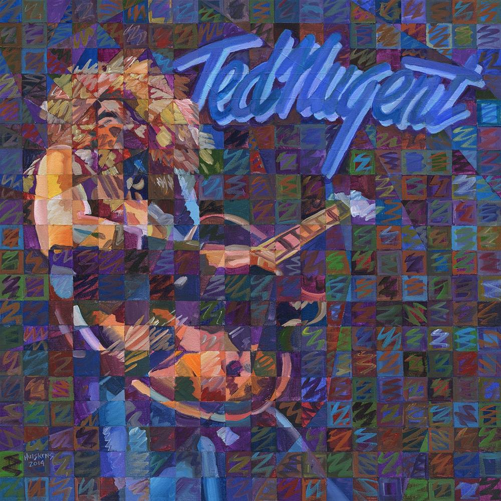 """Ted Nugent"" original fine art by Randal Huiskens"