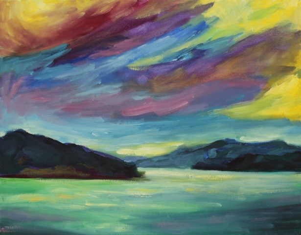 """Angel Island"" original fine art by Loralee Chapleau"