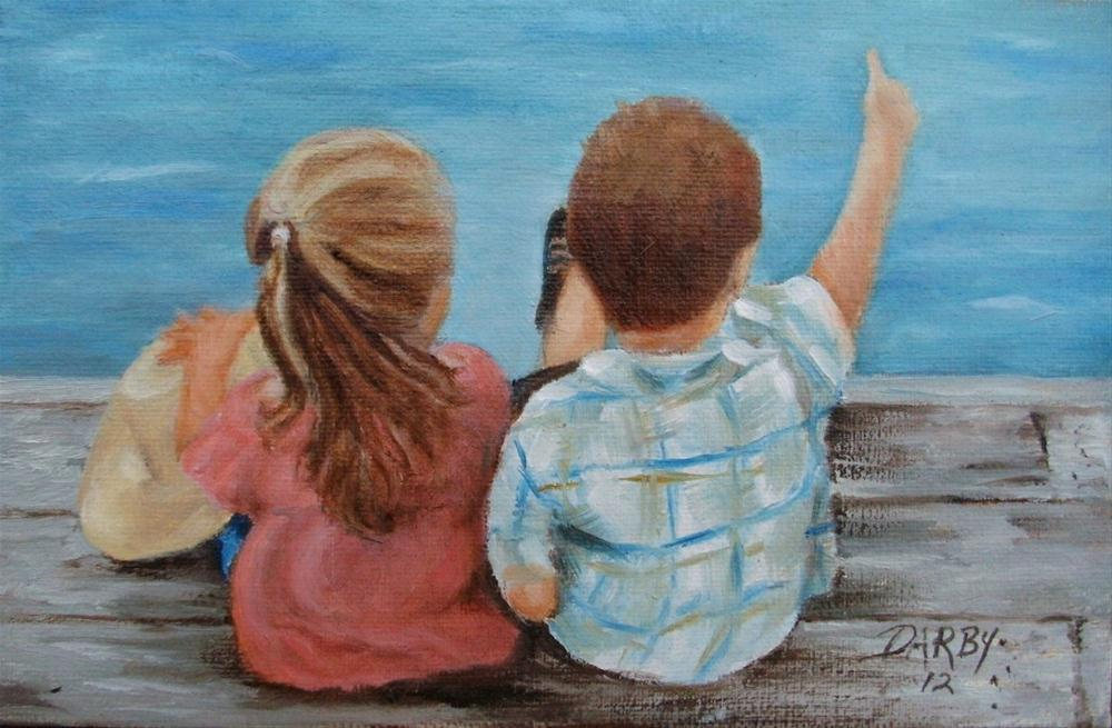 """Look, Sis!"" original fine art by Lynn Darby"