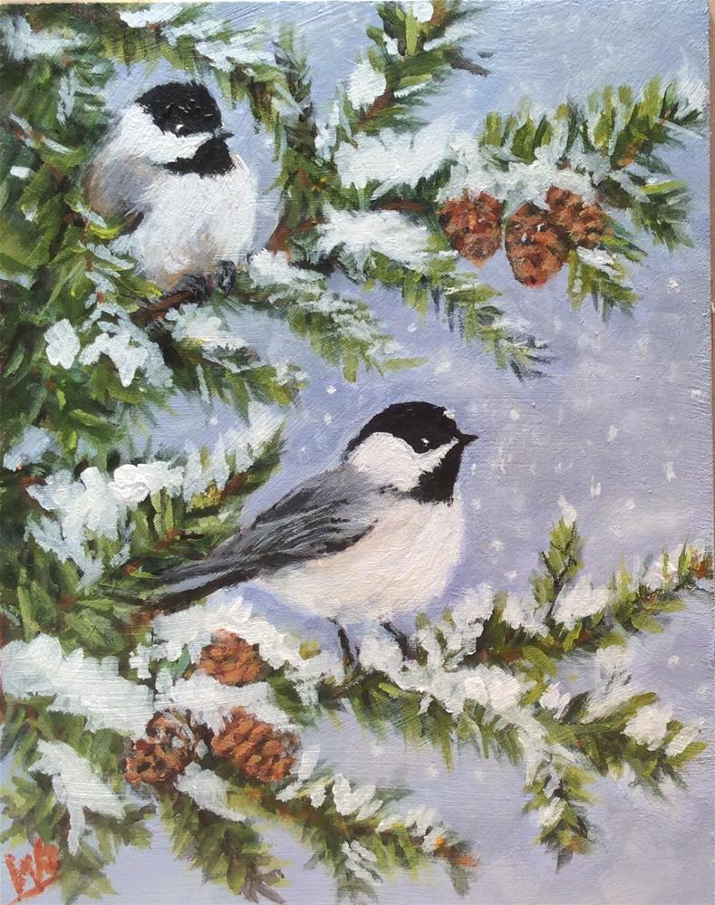 """Winter Wonders"" original fine art by wendy black"