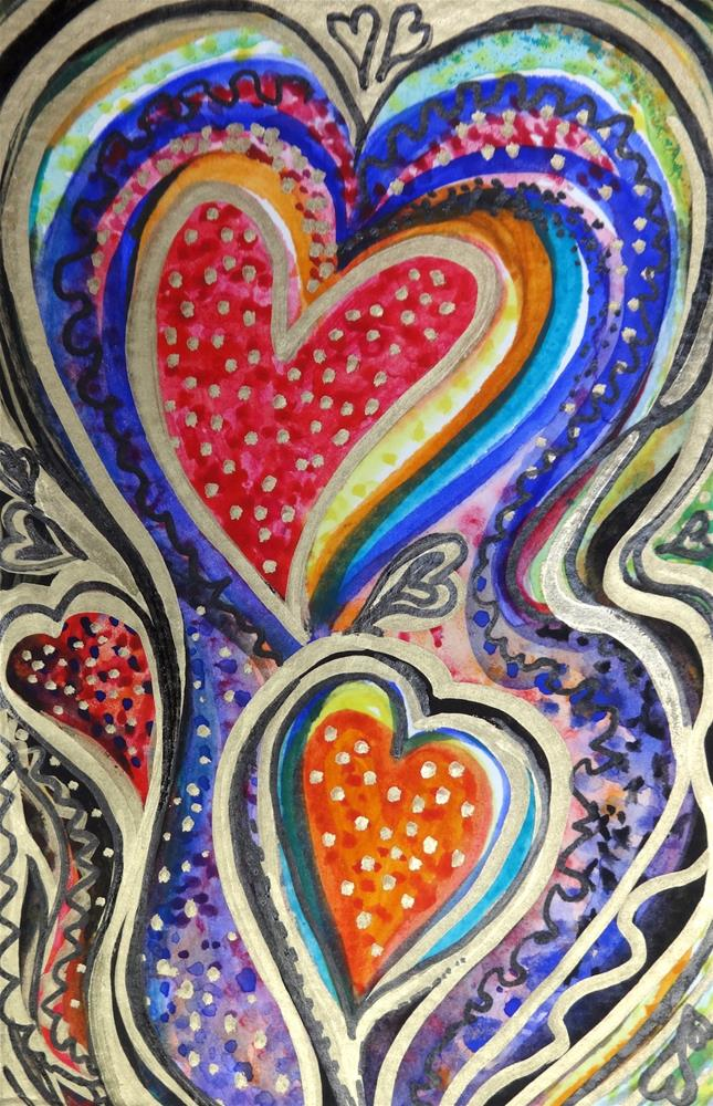 """6024 - The Party Heart - Happy Heart"" original fine art by Sea Dean"