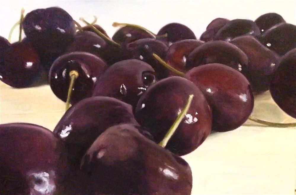 """Cherries"" original fine art by James Coates"