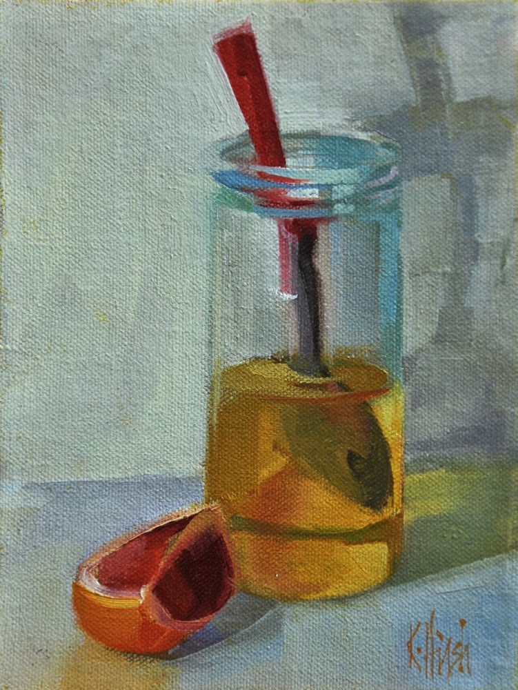 """The Honey Jar 1"" original fine art by kathy hirsh"