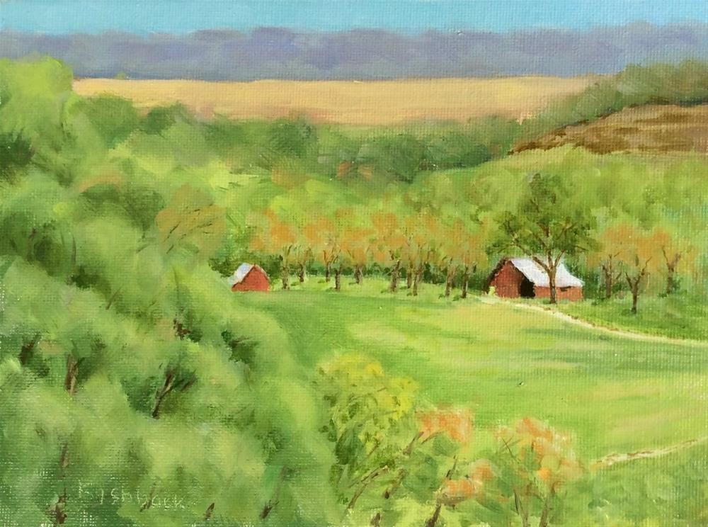 """Vineyard Spring, en plein aire"" original fine art by Daniel Fishback"